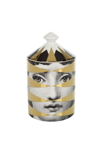 Fornasetti Losanghe Scented Candle, Gold - 300g