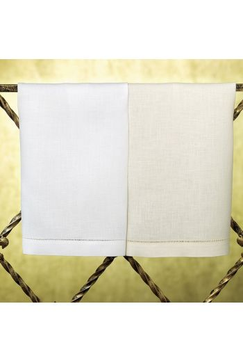 SFERRA Classico Guest Towels 14x20, Set of 4 - Available Colors: White or Ecru