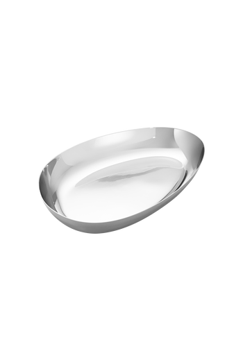 Georg Jensen Sky Bowl, Medium Mirror Polished Stainless Steel - H: 1.02 inches. W: 8.74 inches. D: 5.71 inches.