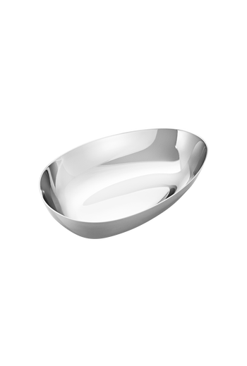 Georg Jensen Sky Bowl, Small Mirror Polished Stainless Steel - H: 1.02 inches. W: 5.87 inches. D: 3.82 inches.