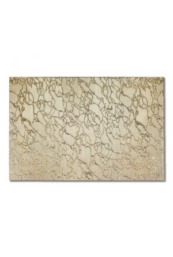 Modern Artistic Gold Glass Placemat