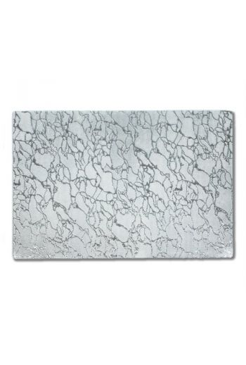 Modern Artistic Silver Glass Placemat