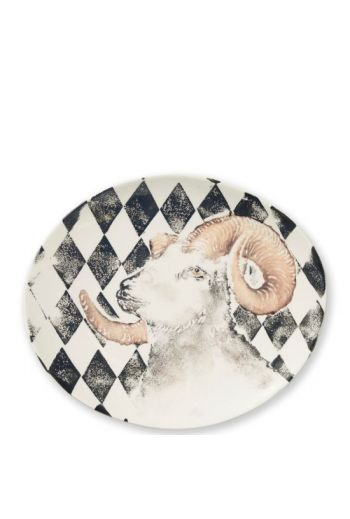 Into The Woods Ram Oval Platter