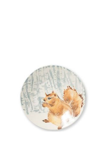 Into The Woods Squirrel Small Round Platter