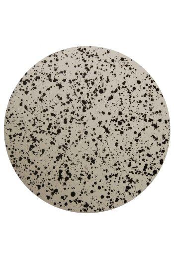 "TISCH NEW YORK Splatter Placemats, 15"" Diameter - Available in Black and Cobalt"
