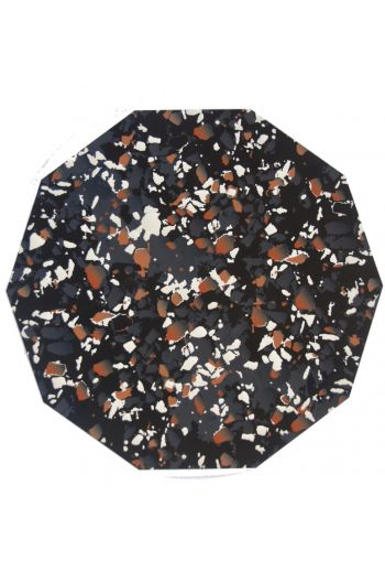 "TISCH NEW YORK Terrazzo Placemats, 15"" Diameter - Available in Black and Coral"