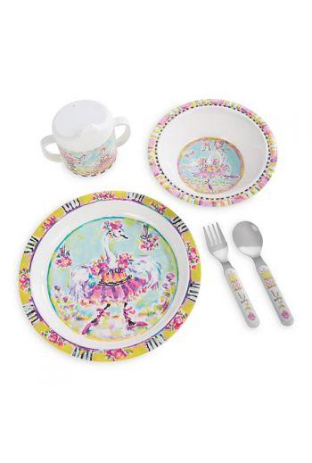 MacKenzie-Childs Toddler's Dinnerware Set - Bella Ballerina