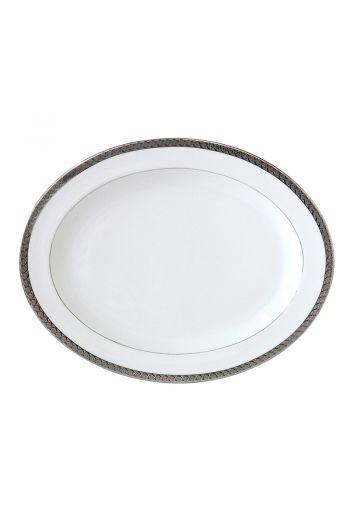 """Bernardaud Torsade Oval Platter - 15"""""""