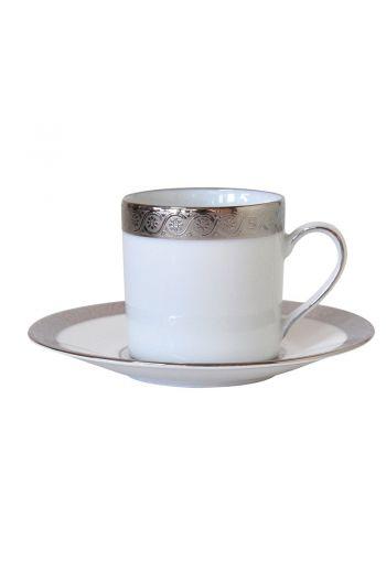 Bernardaud Torsade Expresso Cup and Saucer