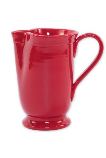 Fresh Red Large Footed Pitcher
