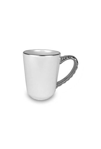 "Wainwright Truro Platinum Mug - 3.5"" diameter x 4.5"" height"