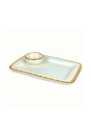 """Wainwright Truro Gold Chip & Dip - 12.5 """" diameter x 8.5"""" height"""