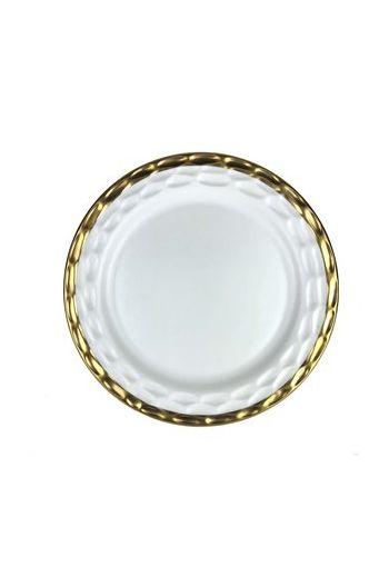 """Wainwright Truro Gold Dinner Plate - 10.5"""" diameter"""
