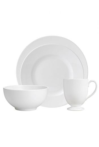 Wedgwood White 4-Piece Place Setting