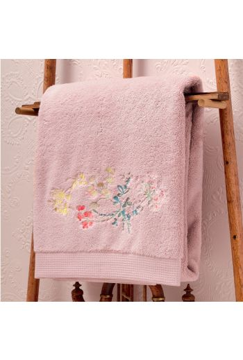 YVES DELORME Herba Embroidered Waffle Weave Guest Towel 16x28 (Set of 2) - Available in Multi Color Print/Embroidered