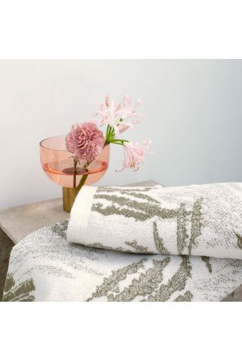 YVES DELORME Palmea Guest Towel 18x28 (Set of 2) - Available Color: Silver Floral