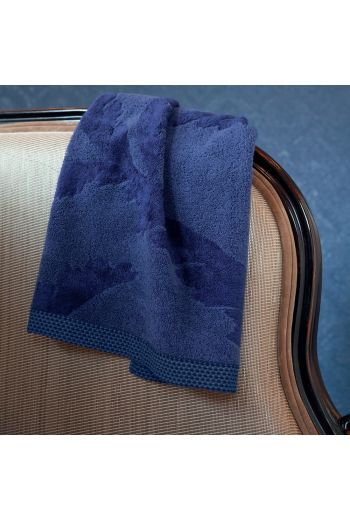 YVES DELORME Palmio Guest Towels 17x28 (Set of 2) - Available in Prussian Blue